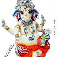 Load image into Gallery viewer, Hand Carved God Ganesha Resin Idol Sculpture Statue (7 x 4 x 7.5) Inch