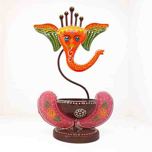 Ganesh Iron T Light Candle Holder - Decorstore.in