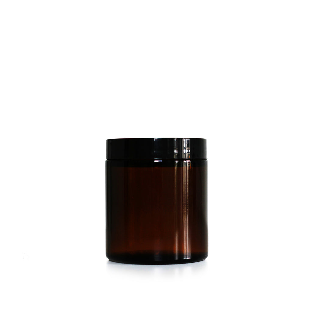 4 oz Amber Glass Jar - Modern Monk CBD Shop
