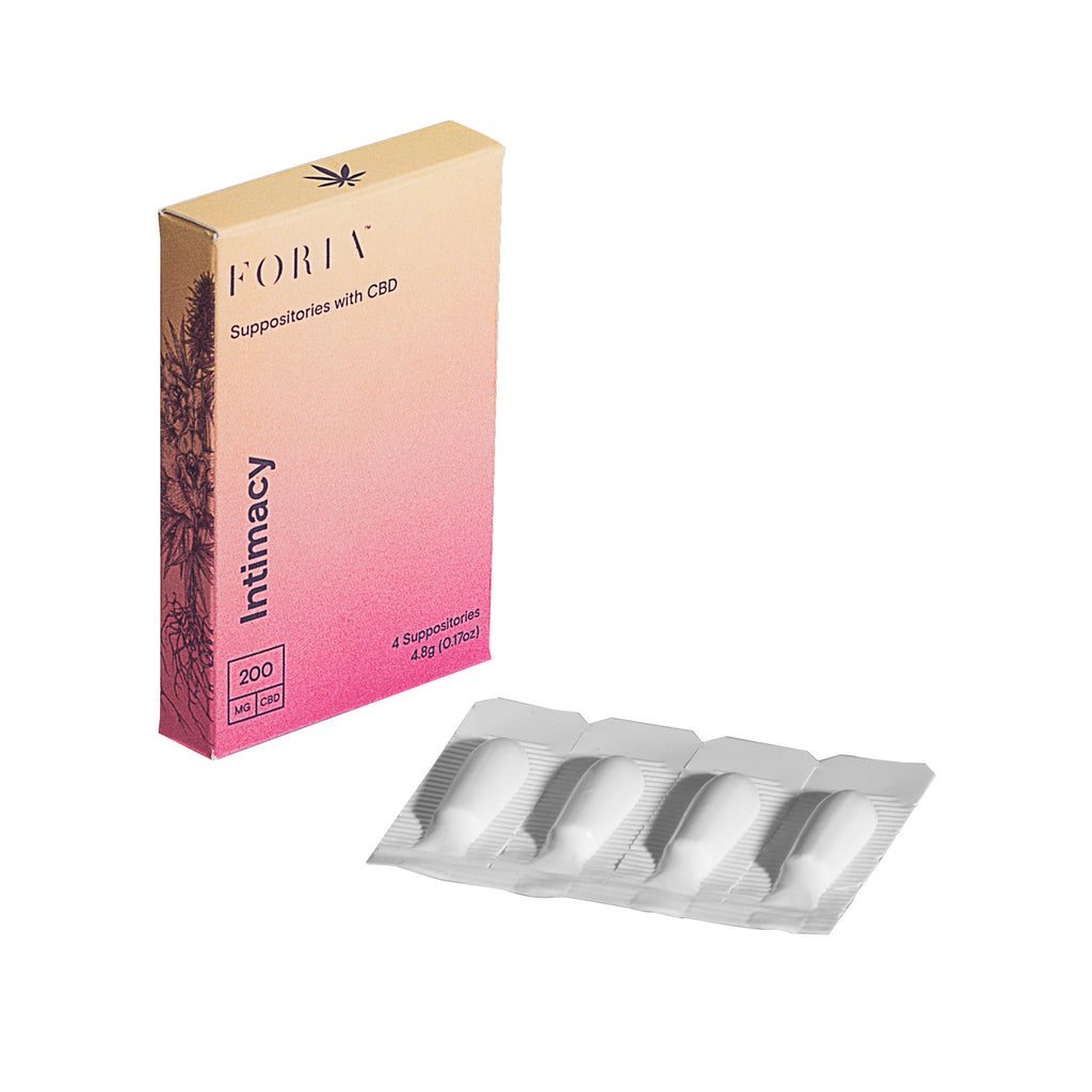 Foria CBD Suppositories - Modern Monk CBD Shop