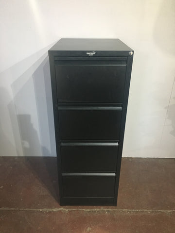 4 x Drawer Filing Cabinet Black