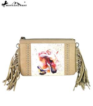 Montana West Palomino Leather Handbag