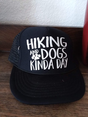 Hiking and Dogs Ball Cap Hat