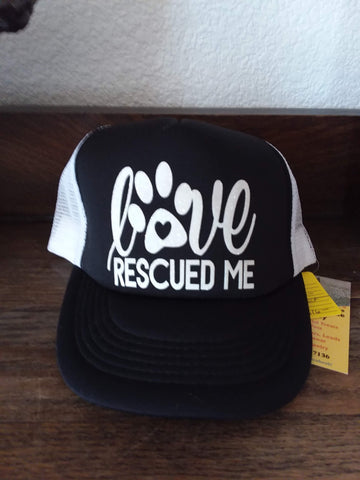 Love Rescued Me Ball Cap Hat