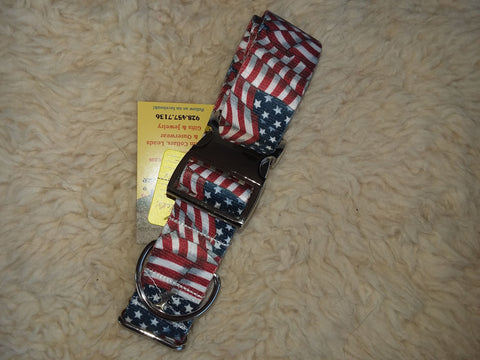 "Old Glory 1.5"" Custom Buckle Collar"