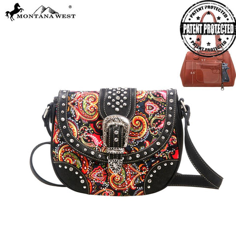 Montana West Western Paisley Messenger Bag