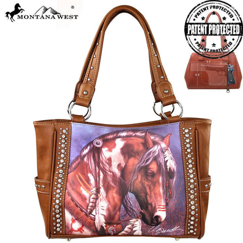 Montana West Horse Art Handbag-Laurie Prindle Collection
