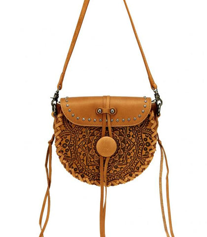 Montana West Real Leather Crossbody Hair-On Handbag
