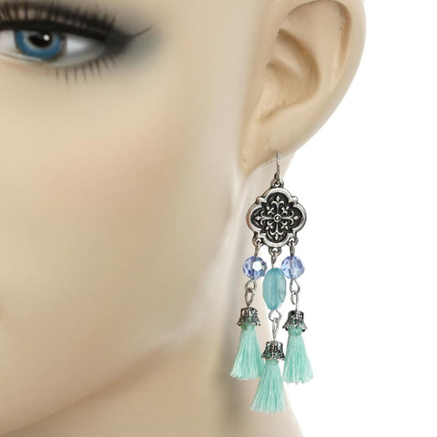 Fringe Drop Earrings in 2 Colors