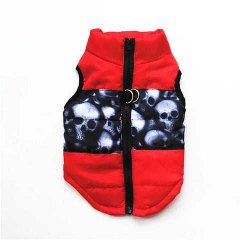 Skulls, Trendy Back Zip Pet Vest