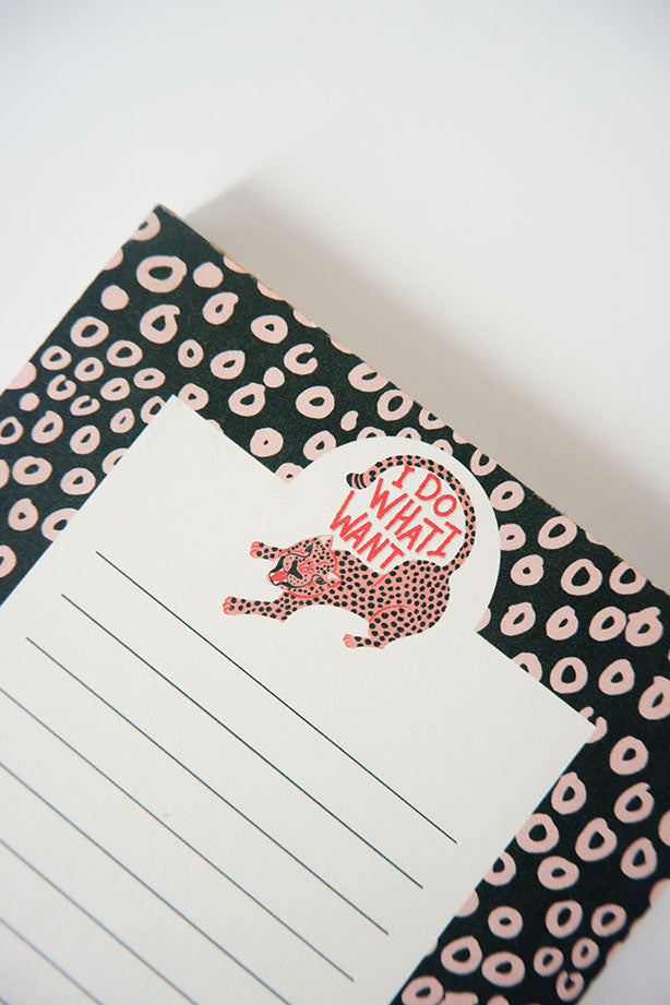 I Do What I Want Notepad