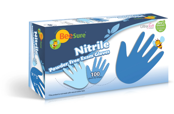 BeeSure Slim Nitrile Powder Free Exam Gloves