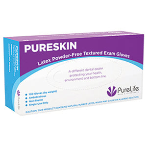 PureSkin Latex Powder-Free Textured Exam Gloves
