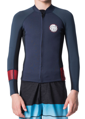 Ripcurl Junior Aggrolite Long Sleeve Front Zip Jacket