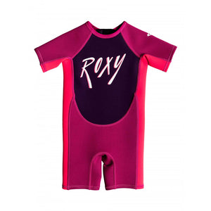 ROXY TODDLER SYNCRO 1.5MM SHORT SLEEVED BACK ZIP SPRING