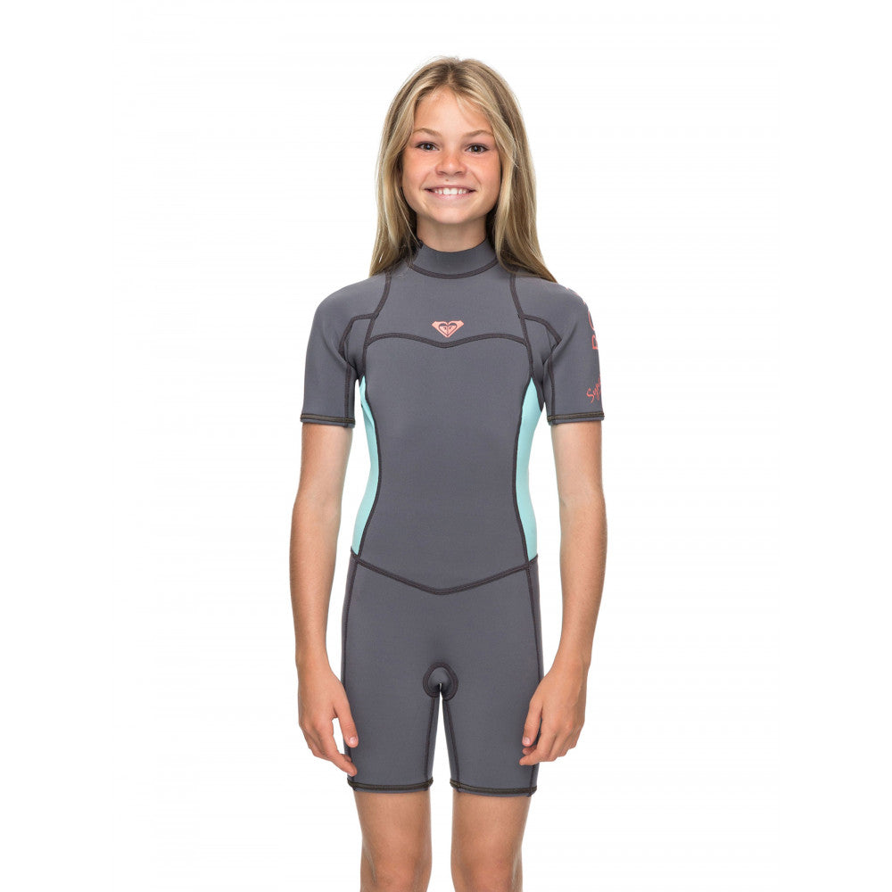 ROXY GIRLS 8-16 SYNCRO 2 2MM SHORT SLEEVED BACK ZIP SPRING - Surfection  Mosman e19f26eef
