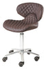 Image of Whale Spa Diamond PU leather Pedicure Stool 1001H-DIA | Tempo Collection