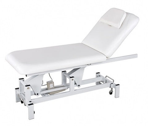USA Salon & Spa Select White Stationary Message Table 2212