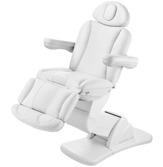 USA Salon & Spa Lulant + White Stationary Massage Table 2250B
