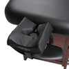 "Image of Master Massage Cabrillo 30"" Black w/ Walnut Legs Stationary Massage Table 10125"
