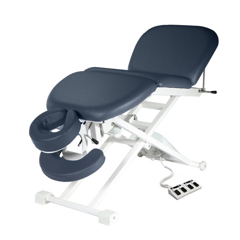 "Master Massage TheraMaster 4 Section 29"" Royal Blue Electric Lift Massage Table 10139"