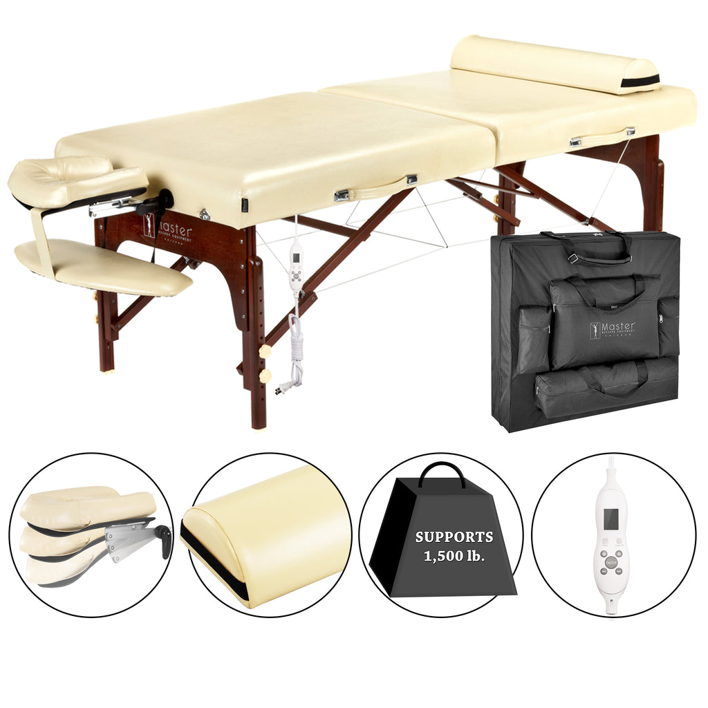 "Master Massage Saxon 30"" Therma Top Portable Massage Table Package 28237"
