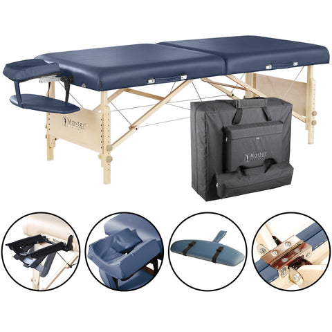 "Master Massage Coronado LX 30"" Portable Massage Table Package 28229"