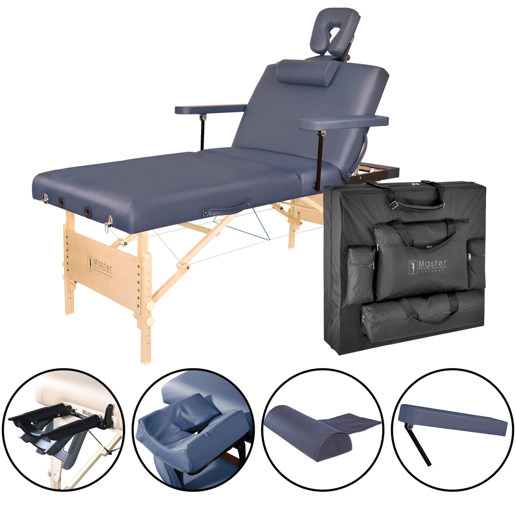 "Master Massage Coronado Salon 30"" Portable Massage Table Package 29227"