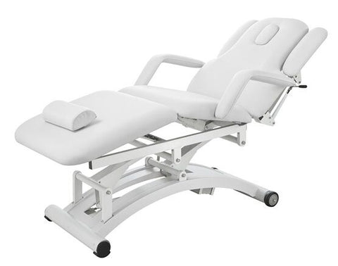 USA Salon & Spa Harmon White Electric Lift Massage Table 2241C