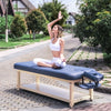 "Image of Master Massage Laguna 30"" Navy Blue Stationary Massage Table 46559"