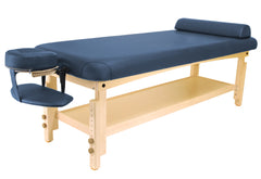 "Master Massage Laguna 30"" Navy Blue Stationary Massage Table 46559"