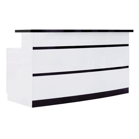 Whale Spa LUX BW Stripes Reception Desk SCBWS