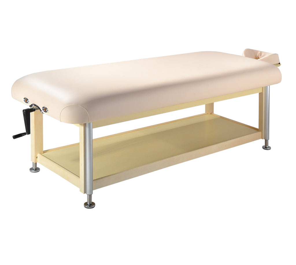 "Master Massage Sheldon 30"" Cream Hydraulic Stationary Massage Table 10106"