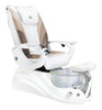 Image of Whale Spa Crane w/ Optional Discharge Pump Pedicure Spa Chair - White Edition