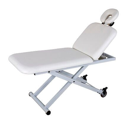 USA Salon & Spa Crop White Electric Lift Massage Table 2210A