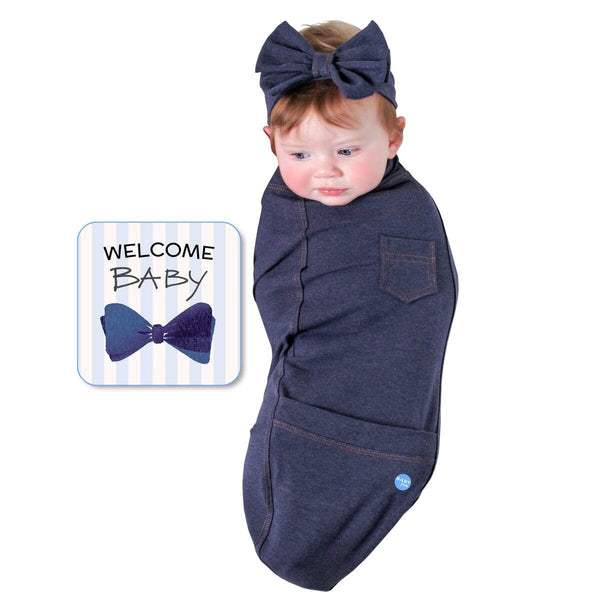 Blue Jean Baby Swaddle