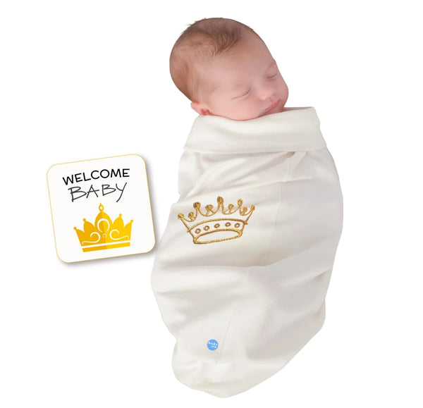 Crown White Baby Swaddle