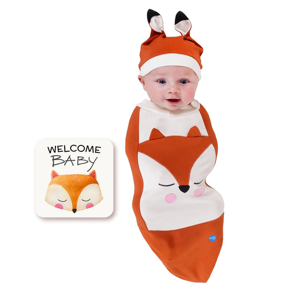Fox Orange Baby Swaddle