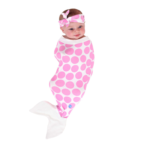 Mermaid Baby Swaddle Pink 2