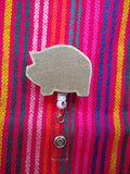 Puerquito ID Clip Badge Reel-Retractable