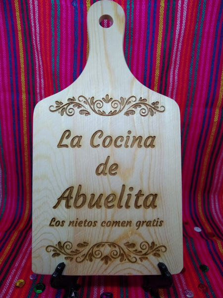 Cocina de Abuelita y Nietos decorative board