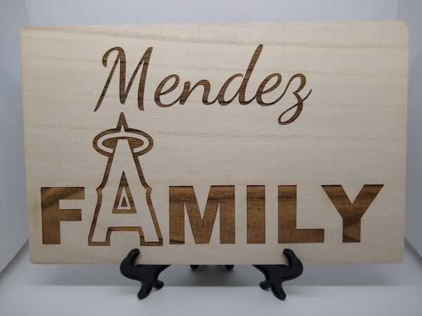 Personalized Angels Family Board