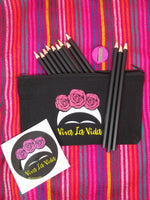 Frida Viva La Vida colored pencil set with zippered pouch