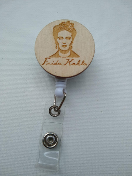 Frida Kahlo Retractable Badge Reel