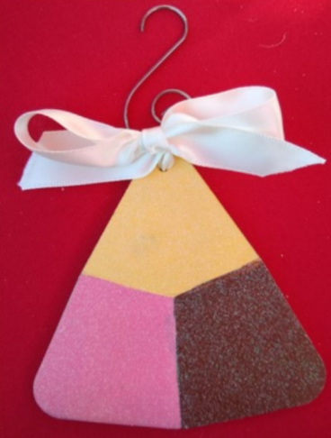 Wooden Polvoron Tricolor Ornament