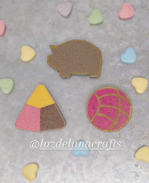 Original Pan Dulce Fridge Magnets (Concha, Polvoron, Puerquito)
