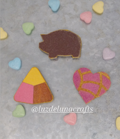 Valentine's Pan Dulce Magnet Gift Set (Heart Concha, Polvoron, Puerquito)