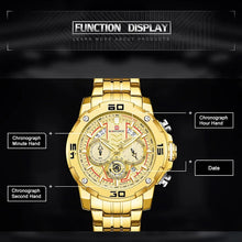 Naviforce 9175 MechaMan Steel Watch - Gold