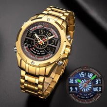 Naviforce 9170 Cyrax Men Watch - Gold
