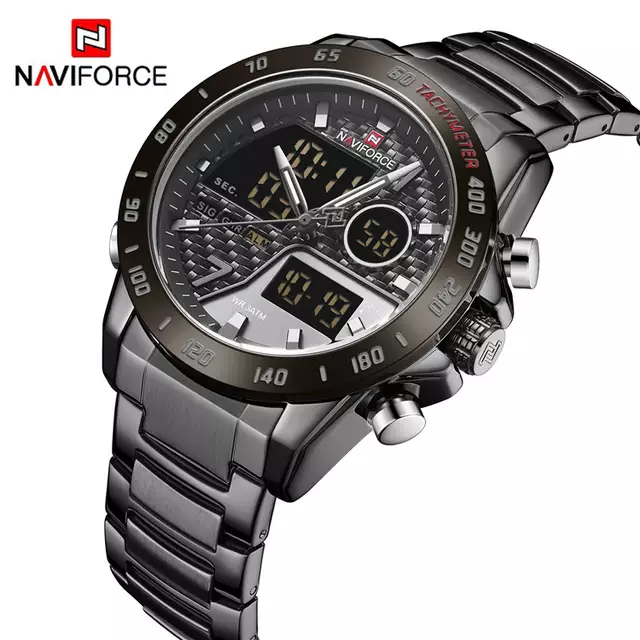 Naviforce 9171 Chromium Men Watch - Black